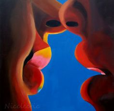 Rainbow Kiss II - the moment where you can feel the breath of the other... getting closer, and your lips are just about to touch... This piece is all