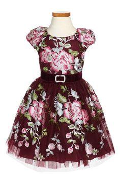 d45ed46748884 David Charles Rose Embroidered Tulle Dress (Toddler Girls   Little Girls)