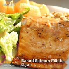 Salmon Fillets Dijon Baked Salmon Fillets Dijon from Baked Salmon Fillets Dijon from Grilled Seafood, Fish And Seafood, Pink Fish, Snack Recipes, Snacks, Mouth Watering Food, Salmon Fillets, Baked Salmon, Allrecipes