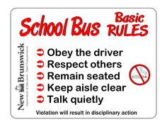 School Bus: Rules and Respect