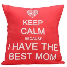 Lovely personalize cushion for mom.