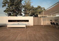 Uw client wenst de luxe uitstraling van hout? Maar dan wel ZONDER de fysische eigenschappen van een echte parketvloer? Terrastegels, tuintegels, terras, tegels, sierbestrating, bestrating, inrichting, inrichten, ideeen, vloer, tuin, parket, keramisch parket