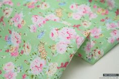 """Green Floral Hight Quality100% cotton fabric sold by meter 63""""width 1605021], in [Crafts, Sewing & Fabric, Fabric 