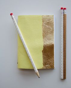 DIY Leather and Gold Leaf Notebook