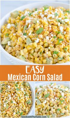 Sharing our Easy Mexican Corn Salad that is a favorite Mexican side dish! We love this Mexican Corn Salad for taco nights, barbecue parties, picnics or potluck meals.