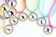 Hip Hop Dance Favors - Hip Hop Jewelry - Set of 6 - FREE Customization - Dance Party Favors