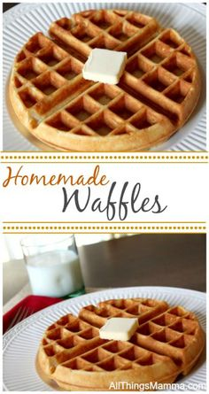 We love these waffles. The perfect made from scratch Homemade Waffle Recipe! We love these waffles. The perfect made from scratch Homemade Waffle Recipe! Source by mellockcuff What's For Breakfast, Breakfast Recipes, Breakfast Waffles, Mexican Breakfast, Pancake Recipes, Pancakes And Waffles, Homemade Breakfast, Morning Breakfast, Waffle Maker Recipes