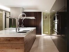 Kitchen with white floor