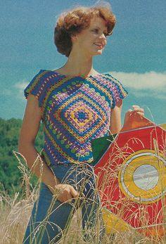 1970s vintage crochet
