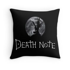 'riuk in front of the moon - death note' Throw Pillow by DonBonanza Death Note, My Hero Academia Merchandise, Anime Merchandise, Anime Inspired Outfits, Anime Outfits, Danganronpa Monokuma, Otaku Room, Anime Crafts, Joker Art