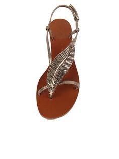 Studded Leaf Sandal | Loris Shoes