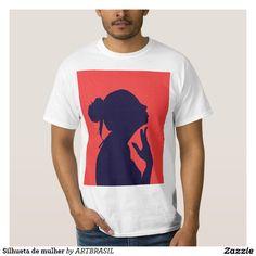 Silhueta de mulher tshirt mulher, camiseta perfil