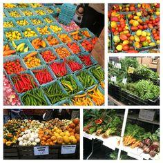 #farmersmarketnyc bounty! - #Manhattan Union Square Greenmarket via chelseykimm on Instagram - #peppers #tomatoes #beets #carrots #chard #gourds #minipumpkins #greens