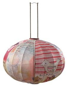 Fabric Lantern - by Kelly Rae ROberts