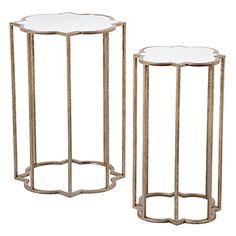 Quatrefoil Tables - Set of 2 | End Tables | Occasional Tables | Living Room | Furniture | Z Gallerie