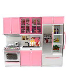 Pink Play Kitchen, Toy Kitchen Set, Barbie Kitchen, Buy Kitchen, Home Decor Kitchen, Kitchen Furniture, Office Furniture, Best Kitchen Designs, Barbie Furniture