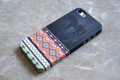 Tribal Horse Aztec Geometric Wood iPhone 5s Case , iPhone 5 Case , iPhone 4s Case , iPhone 6 Case , iPhone 6 Plus , from NPKShop on Etsy