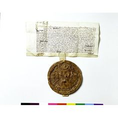 c.1585:  wax seal impression - Elizabeth I