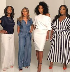 Being Mary Jane: Margaret Avery, Lisa Vidal, Gabrielle Union & Raven Goodwin Business Formal Women, Business Casual Attire, Professional Attire, Basic Outfits, Casual Outfits, Denim Outfits, Girls Dress Up, Office Outfits, Office Wardrobe