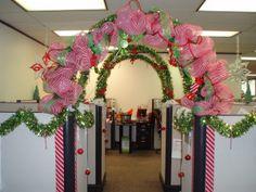 Joulutoimistolla Joulu Christmas Cube Decorations Office Holiday Decor Cubicle Birthday