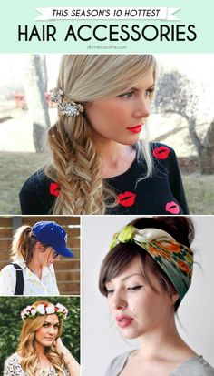 We're getting playful this summer with these 10 hot hair accessories! #hair #hairaccessories #hairstyles