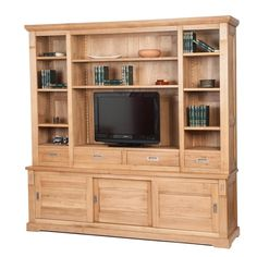 Bibliotecă din lemn de stejar Viggo I Furniture, Home, Decor, Entertainment Unit