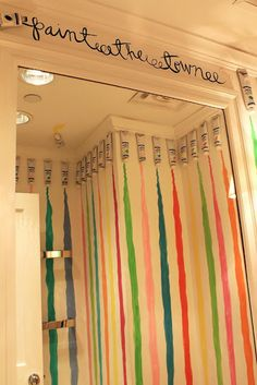 Lilly Pulitzer dressing room in New York at the Madison Avenue store by Maryland Pink and Green