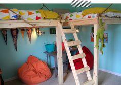 loft bed for boy's room