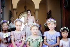 Flower girl dresses Flower Girl Wreaths, Flower Girl Crown, Flower Girl Dresses, Wedding Of The Year, Boys Suits, Silk, Wedding Dresses, Floral, Color