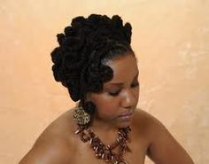 Note how she used the two strand twist method to achieve thicker locs for this style ; Dreadlock Styles, Dreadlock Hairstyles, Locs Styles, Updo Styles, Natural Hair Styles For Black Women, Short Hair Styles, Natural Styles, Black Women Hairstyles, Cool Hairstyles