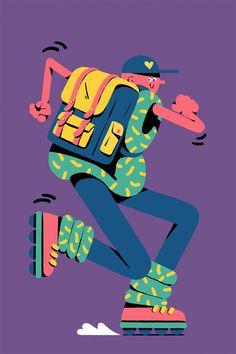 Apple Store Champs Élysées on Behance People Illustration, Flat Illustration, Character Illustration, Graphic Design Illustration, Digital Illustration, Design Logo, Design Poster, Flat Design Inspiration, Design Android