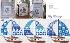 Bu desen o kadar çok istek aldı ki, ancak paylaşabiliyorum :) Banyolarımız için işlemiş, torba şeklinde dikmiş, bir tanesini de kutu üzerine yerleştirmiştim. Yolum hep aynı, sizlere değişik uygulamalar göstermek :)) Designed and stitched by Filiz Türkocağı... ( sailing boat )