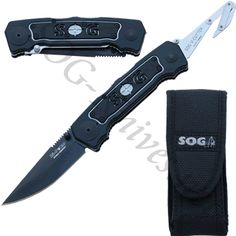 SOG Bi-Polar Black Knife BP-2