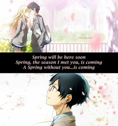 A spring without you...is coming