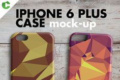 IPHONE 6 PLUS CASE MOCK-UP 3d print by colatudo store on Creative Market