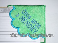 BOOKMARK Once Upon a Memory  Gift Teacher Boy by astitchforyou, $3.75