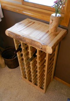 Butcher block wine rack. by AspenSpirit on Etsy, $328.00