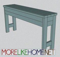 DIY Furniture : DIY Chunky Console