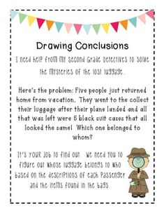 Drawing Conclusions on Pinterest | Inference, Anchor Charts and Making ...