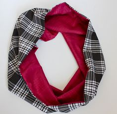 flannel and fleece infinity scarf...cozy