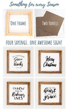 Four signs in ONE! Thanksgiving, Christmas, Easter and Summer Sign all in ONE Simple DIY Wood Sign. Four signs in ONE! Thanksgiving, Christmas, Easter and Summer Sign all in ONE Wood Projects For Beginners, Diy Wood Projects, Wood Crafts, Diy And Crafts, Crafts For Kids, Projects To Try, Furniture Projects, Wood Furniture, Simple Projects