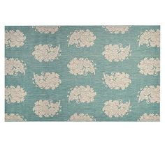 Paisley Jacquard Indoor/Outdoor Rug - Blue | Pottery Barn