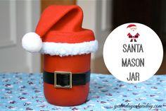 Santa Mason Jar Crafts