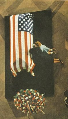 First Lady Mrs ~~Jacqueline and Caroline Kennedy kissing John F. Kennedy's coffin at his funeral (JFK casket in Capitol rotunda, 1963) O God I don't know why I rebloging this….. I want to cry!!! ♥❃❋✽✾❀❃ ♥ RIP♥❃❋✽✾❀❃ ♥ http://en.wikipedia.org/wiki/State_funeral_of_John_F._Kennedy http://www.jfklibrary.org/Asset-Viewer/QFe9DUgbmE6ARwL9qyyvLw.aspx