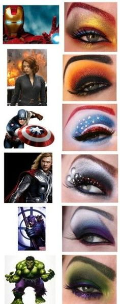 The Avengers eye makeup art
