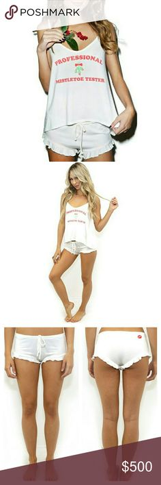 Wildfox Professional Mistletoe Tester Cami Set Wildfox Professional Mistletoe Tester Cami Set.  New in gift box. Soft and comfy.   No Trade or PP  Bundle discounts  Offers Considered Wildfox Intimates & Sleepwear Pajamas