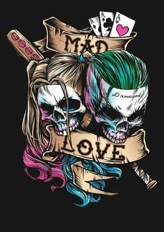 Joker and Harley Quinn Suicide Squad Wallpaper Der Joker, Joker Und Harley Quinn, Joker Art, Harely Quinn And Joker, Harley Quinn Tattoo, Harley Quinn Drawing, Héros Dc Comics, Joker Kunst, Harey Quinn