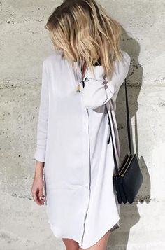 The shirtdress in heavy viscose