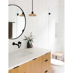 Bathroom decor for your bathroom remodel. Learn bathroom organization, master bathroom decor a few ideas, master bathroom tile a few ideas, master bathroom paint colors, and more. Bad Inspiration, Bathroom Inspiration, Travel Inspiration, Scandinavian Bathroom, Bathroom Interior Design, Small Bathroom, Bathroom Ideas, Bathroom Sinks, Bathroom Cabinets