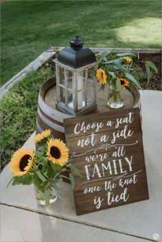 Wedding Photography 00024 - Yana's Photos - Los Angeles Wedding Photographer - Ojai Sunflower Ranch Wedding - sunflower wedding sign - choose a seat not a side sunflower wedding sign - rustic wedding decor Sunflower Wedding Decorations, Rustic Wedding Decorations, Rustic Wedding Signs, Rustic Theme, Rustic Sunflower Weddings, Teal Rustic Wedding, Rustic Sunflower Centerpieces, Jar Centerpieces, Blue Wedding